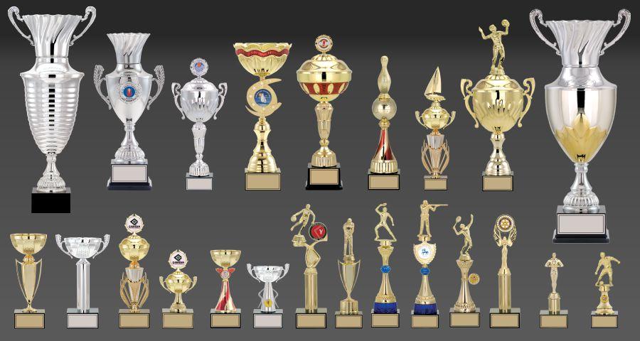 KUPALAR - Metal ve figürlü kupa modelleri